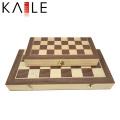 Meilleur jeu de jeu d'échecs magnétique pliant en bois
