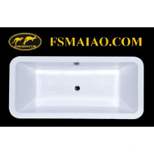 Простая стильная прямоугольная акриловая встроенная ванна (BA-8808)