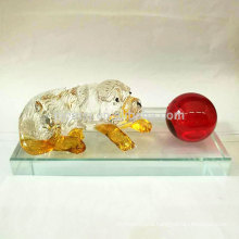 Hand Carved Stone Animal Figurines Wholwsale Crystal Dog Figurine for Decoration and Gift