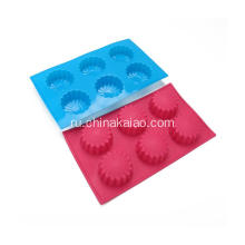Professional Silicone Red baking tray for Microwave Molds for Soap Mooncake