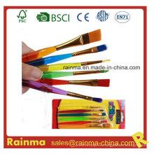 Cepillo del artista de la acuarela del color con el barril y el pelo del color