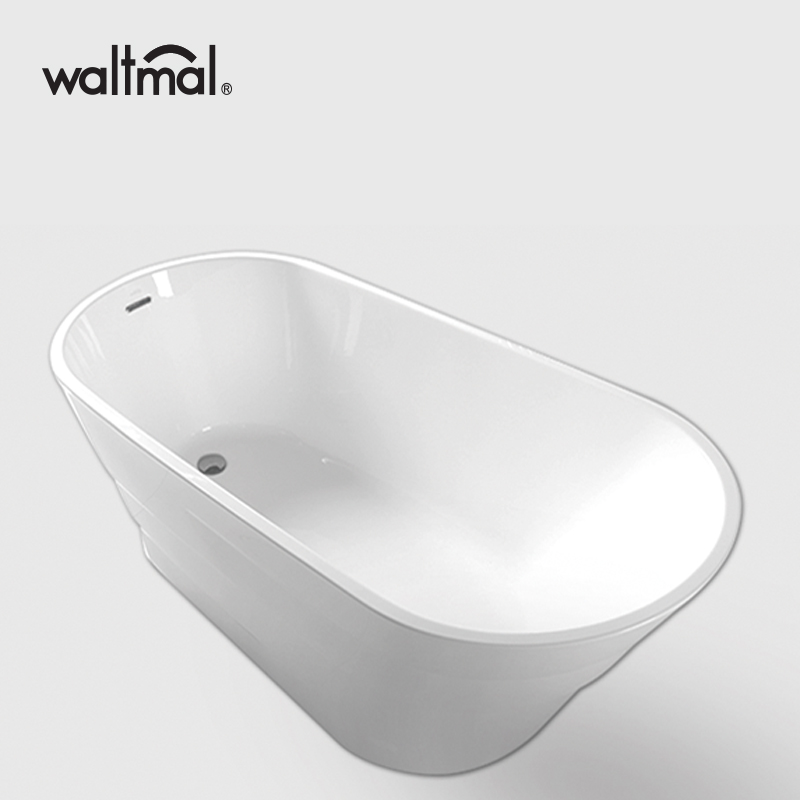 Slipper Shape white Free Standing Bathtub