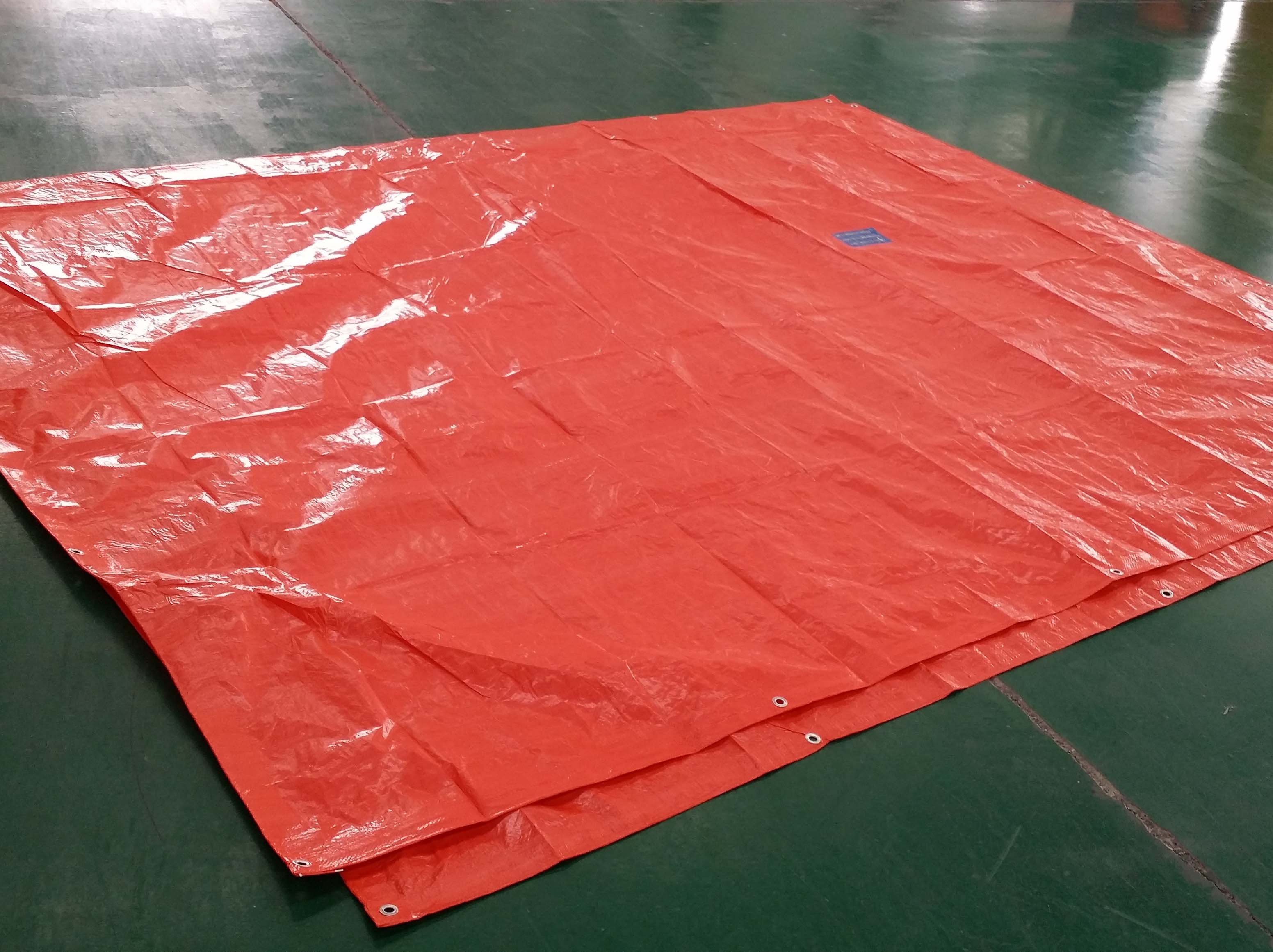 Orange readymade Tarpaulin Sheet