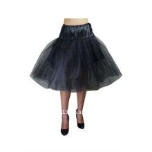 Черный органзы свадебное Нижняя юбка пачка платье