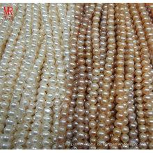 9-10mm runde kultivierte Süßwasserperlen Stränge