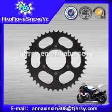 C45 acero Rueda dentada de motocicleta Mejor fábrica