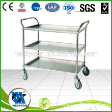 BDT203B Operating room stainless steel utility carts with wheels