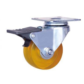Rodízio do freio de 2 polegadas com roda do PVC