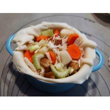 Emailliertes Gusseisen-bedecktes zierliches Kasserolle-Tischgericht