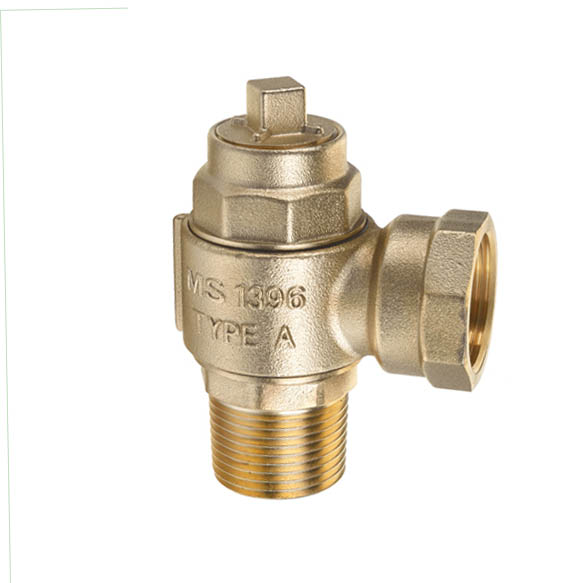 Forged brass safety valve- threaded ended