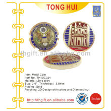 Fashion soft enamel Metal Commemorative coin,souvenir coin with plating
