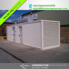 Containerized silent type 1500kva/1200kw electric generator with Perkin engine 4012-46TAG2A