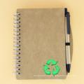 Cahier de journal personnalisé en gros de papier kraft, planificateur de cahier à spirale