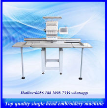 Single Head Computer Controlled Embroidery Machines / Large Size Flat Cap T-Shirt Embroidery Machine