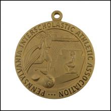 Médaille en métal doré gravé, médaille d'association (GZHY-JZ-028)