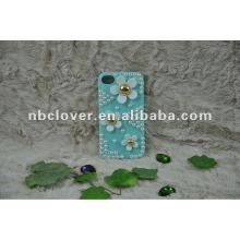 Manual bling flor teléfono móvil caso para iphone