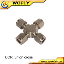 AFK-LOK compresión Unio cross ss316L 4 vías de montaje de tuberías