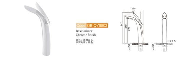 Bathroom Sink Faucet Ob Qy8802 W1