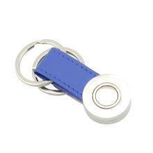 Kundenspezifische Promotion Stempel Firmenlogo Leder Schlüsselanhänger (F3065)