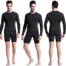 Tight High Elastic Langhülse Männer Fitness Sport T-Shirt