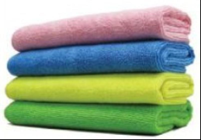 Microfiber Weft Knitted Shinning Bath Face Towels