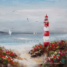 Reproduction Seascape Craft Art Oil Painting for Lighthouse