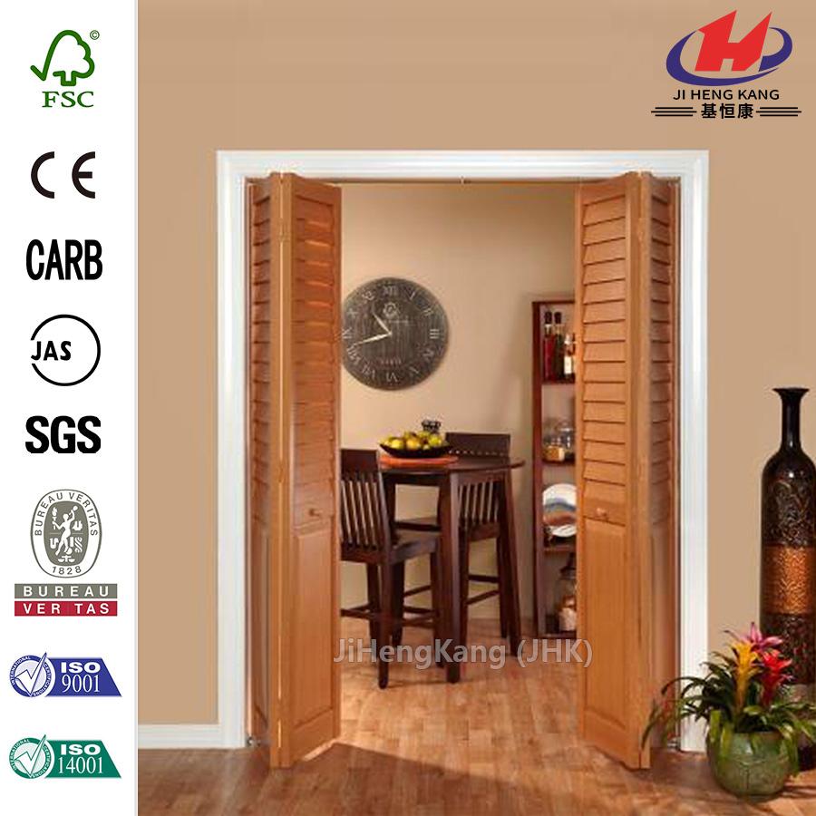 China Hospital Yellow Pine Half Louvered Interior Swing Doors