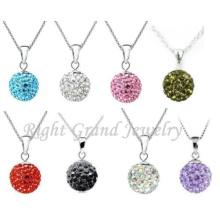 Argile de strass 6mm - 25mm pavée Shamballa perles pendentif Charms