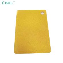 Customized Shape Perspex Glossy Rigid Decoration Gold Acrylic Sheet