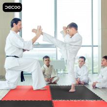Пол боевых искусств - красный черный цвет EVA циновка taekwondo
