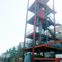 Destilação de petróleo bruto de refinaria para o processo de gasolina