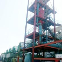 Destilación de petróleo crudo de refinería a proceso de gasolina