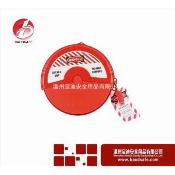 Boa segurança bloqueio tagout recipiente de plástico com trava