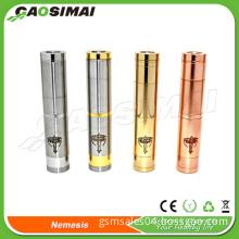 electronic cigarette manufacturer china nemesis mod for 18350/18650