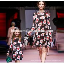 Mode Maman Moi Snowman Imprimé Maman Fille Dress Famille Look Correspondant Vêtements De Noël Mère Fille Robes