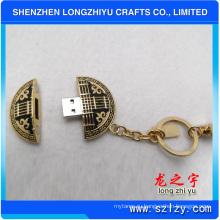Пользовательские высокое качество металла ключ цепи поставщиков и USB