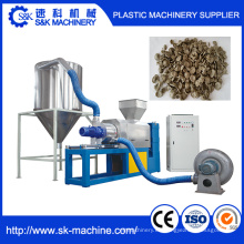 Máquina de secado de película de plástico con granulador