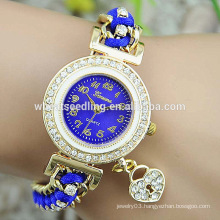 Hot sale 2015 watch teen for new arrival popular colorful geneva knitted watch