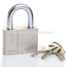 Top security Heavy duty Nickle Plated Atomic Key Square Iron padlock