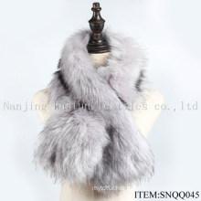 Faux Raccoon and Fox Fur Scarf Snqq045