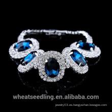 Cristal de lujo de la manera 2015 alrededor de la pulsera grande de Gemston para la señora