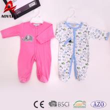 mamelucos recién nacidos de la ropa del bebé del diseño del algodón de la venta caliente