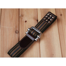 man and boys Fashion Woven Jeans belt with studded