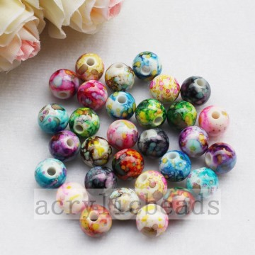 Mixed solid colors striped imitation Polymer Clay loose acrylic Beads