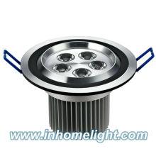 2013 venda quente CE & ROHS 5W luz de teto levou para baixo luz