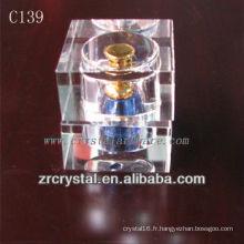 Belle bouteille de parfum en cristal C139