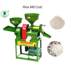 Petites machines d'agriculture combinées de moulin de riz de rouleau en caoutchouc