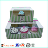 6 Paper Cupcake Box With Clear Window
