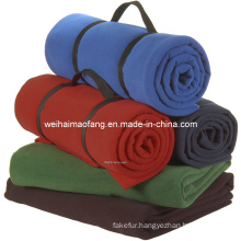 Very Soft 100%Polyester Polar Fleece Picnic Blanket