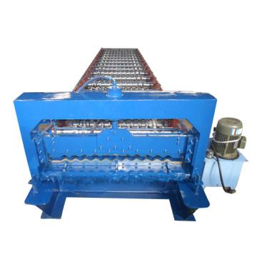 Máquina formadora de rollos de láminas para techos corrugados de acero coloreado